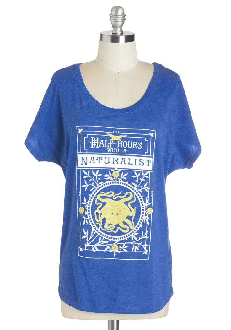 Like Beckoned Nature Tee. Summon a delightful ensemble by donning this nautical graphic tee! #blue #modcloth