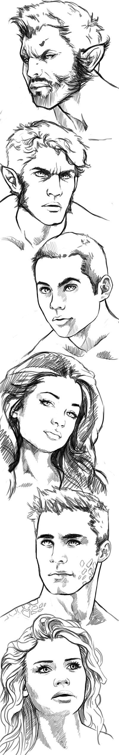 Teen Wolf disegni