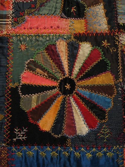 Section of an antique Crazy Quilt