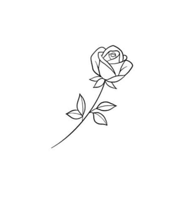Pin By Jay On Rose Small Rose Tattoo Rose Tattoo Stencil Mini Tattoos
