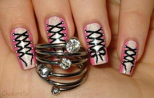 Corset tie nails