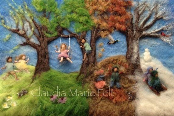 Aguja de fieltro Waldorf foto impresión cuatro por ClaudiaMarieFelt