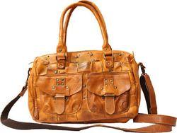 Hill Burry γυναικεία δερμάτινη τσάντα σε ταμπά