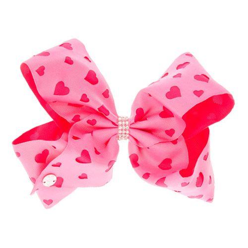 JoJo Siwa Large Heart Rhinestone Keeper Pink Hair Bow | ᑕᒪᗩIᖇE'ᔕ | *I GOT TᕼEᔕE @MaryBrodman