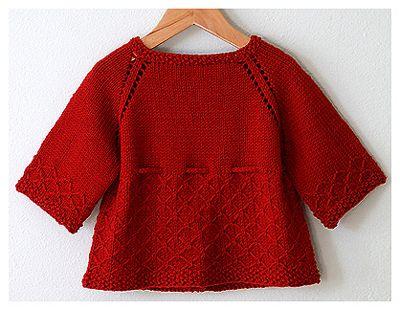 Kız bebekler için kırmızı cici bir hırka modeli...Link