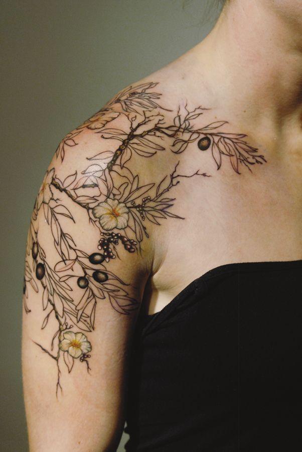 tattoo by Aubrey Mennella aubme.com ig: @aubreymennella olives tattoo