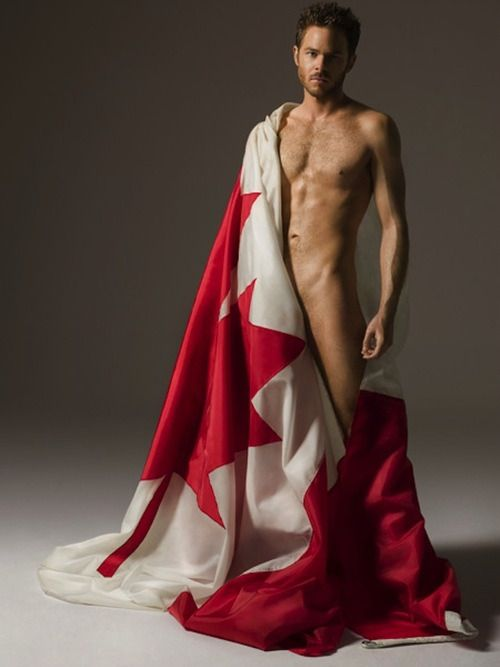 Shawn Ashmore poses for Canada Day the sexy beast!