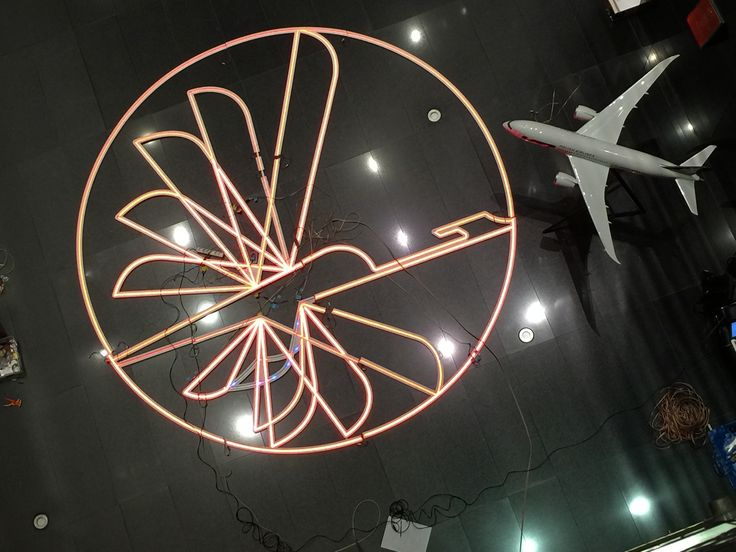 Interactive Neon Powered by Flight Tracking System for Lot Polish Airlines