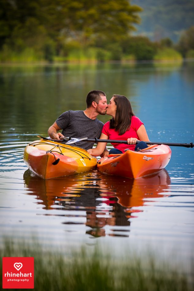 Kayaking engagement photography, canoe creek engagement photography, Creative Central PA Wedding Engagement Photographers