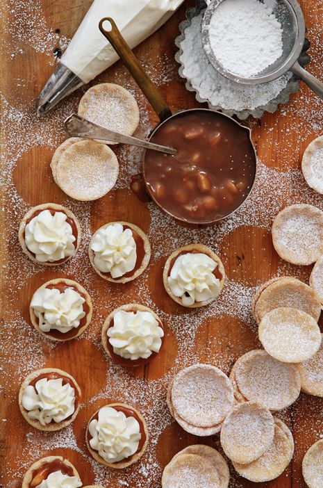 Caramel & Macademia Nut White Chocolate Tarts from @Bakers Royale