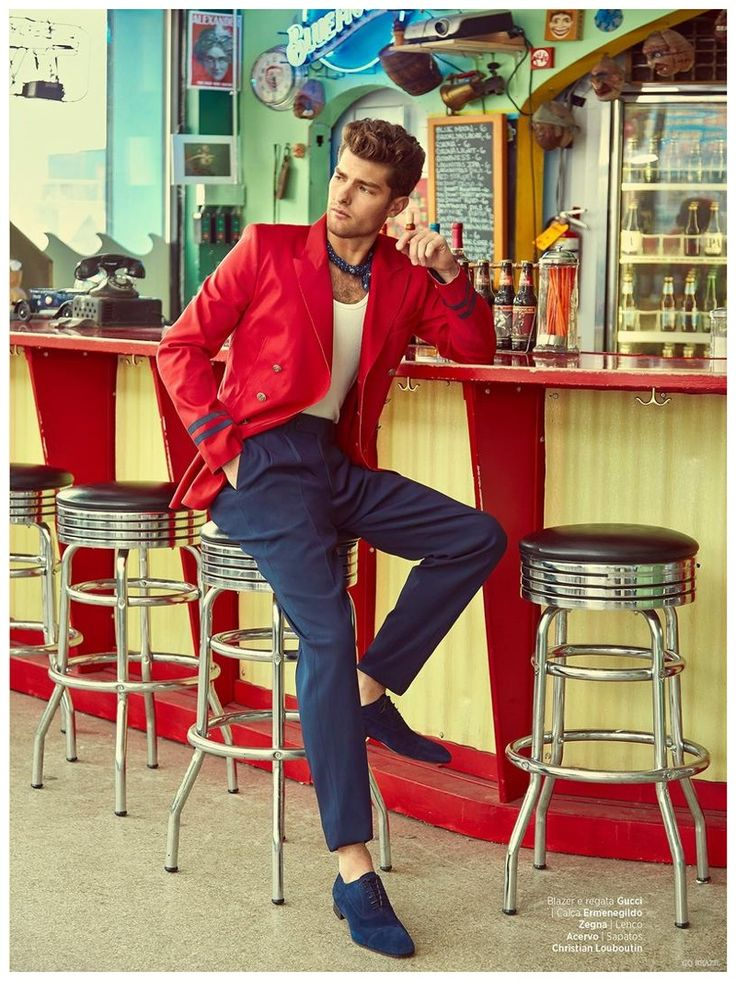 Paolo Anchisi Models Bright Spring Wardrobe in Retro Inspired GQ Brazil Editorial