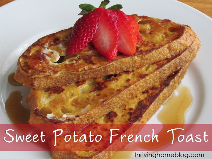 Sweet Potato Whole Wheat French Toast | Recipe | Pumpkins, French and ...