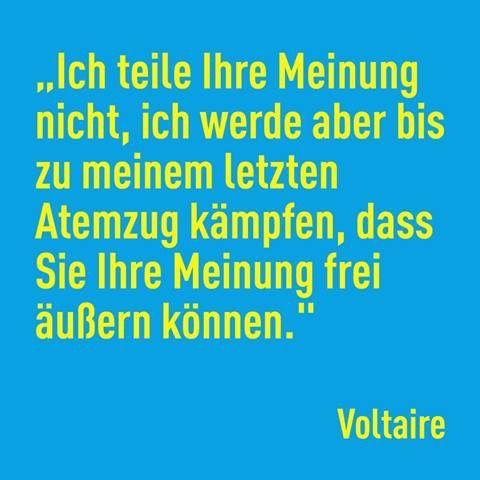 #Voltaire #Meinungsfreiheit
