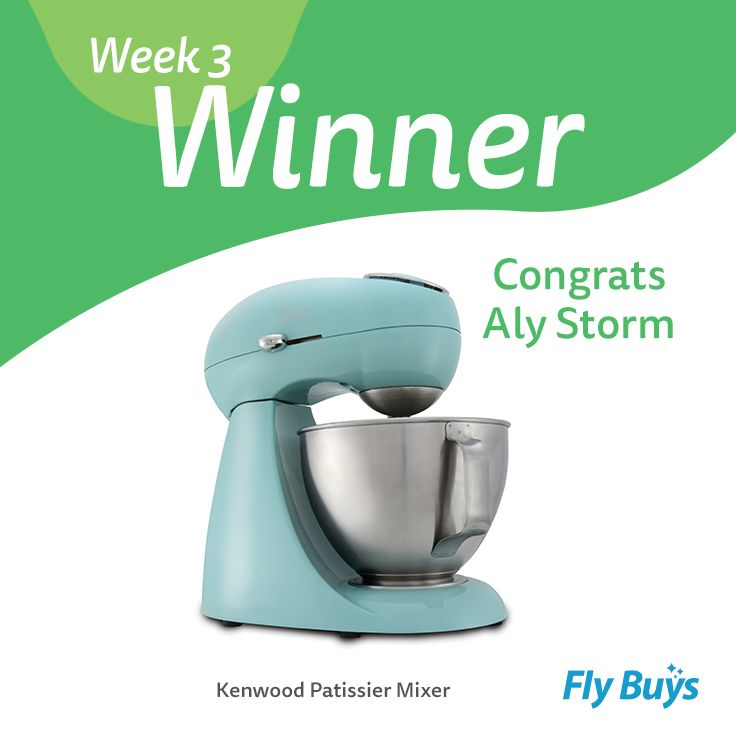 Congrats to Aly Storm, who is our Design Your Ultimate Lifestyle week three winner! Aly has scored herself the Kenwood Patissier Mixer worth 2060 points - enjoy! Make sure you keep pinning as this week is the last week for your chance to win your Ultimate Lifestyle :)