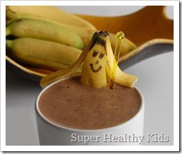 Chocolate banana smoothie: Healthy Meals, Six Sisters, Bananas Chocolates, Healthy Kids, Chocolates Bananas Smoothie, Chocolate Banana Smoothie, 25 Kids Friends, Chocolates Smoothie, Kids Friends Healthy