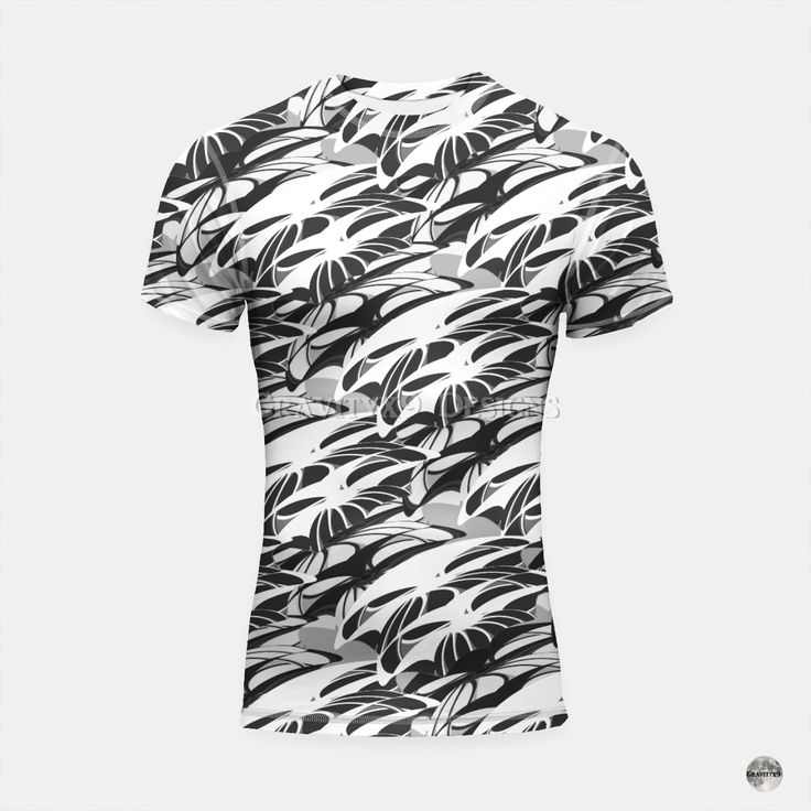* Alien Troops - Black & White Short Sleeve Rashguard Top ...