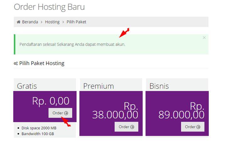 Pemilihan hosting gratis ataupun berbayar pada idhostinger