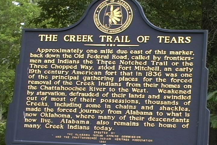 Creek Indians and the Trail of Tears
