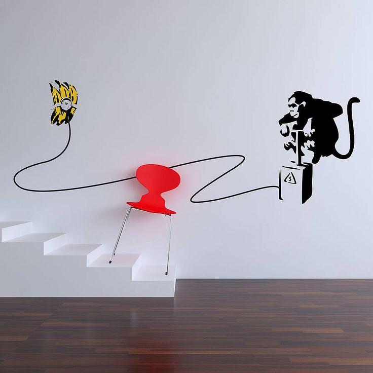Banksy Monkey Bomber Wall Stickers