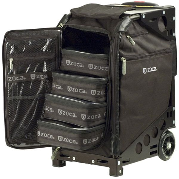 cosmetology roller bags | ... Pro Artist Case / Sit On Rolling Kit Bag (FRAME, INSERT & POUCHES