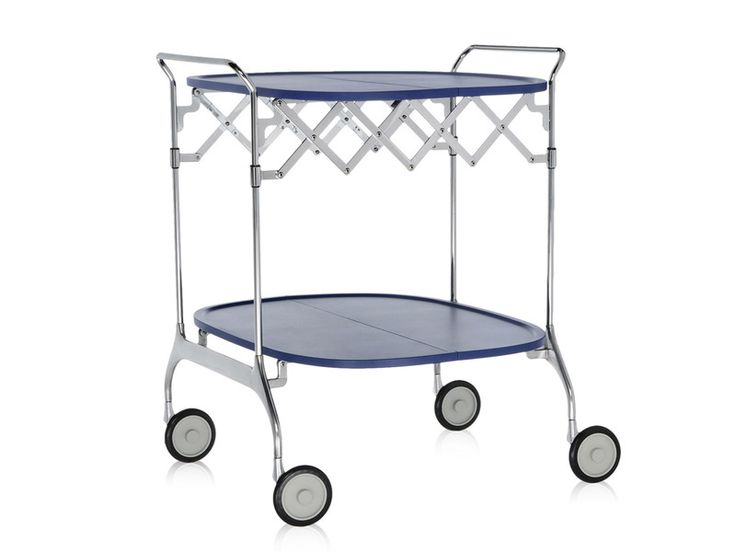 The Kartell Gastone Folding Trolley is a practical trolley that can be collapsed down and stored away when not is use.