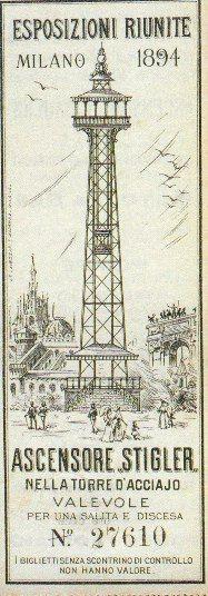 Milano - Esposizione 1906 la torre stigler (adesso Branca)