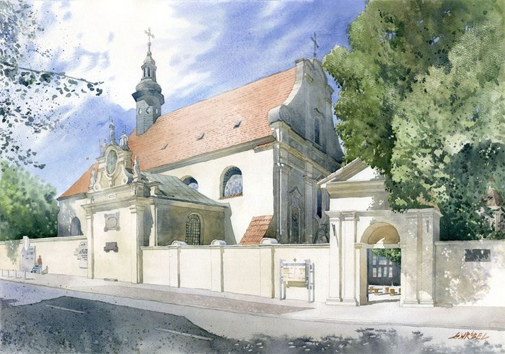 Post-reformation monastery complex in Kalisz by GreeGW.deviantart.com on @deviantART