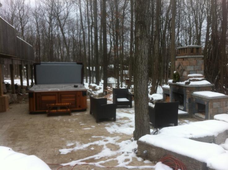 Beautiful Spa install in Oro Ontario.