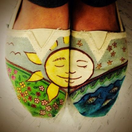 TOMS fan @jakeholla posted these customized ethereal TOMS shoes on Instagram