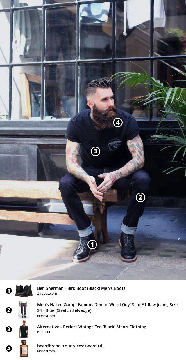 Men's Street Fashion 2016   Beard Stock Review — Bearded mens fashion, including raw denim, beard oil, and an undercut.