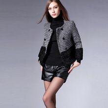 2015 yeni varış kadın kazak gevşek kat avrupa markalar sonbahar kış kısa ceket