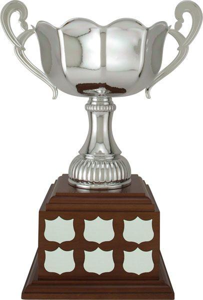Lorenza Cup on a Walnut Finish Base