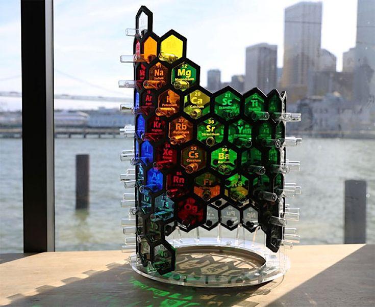 Scott McIndoe baut ein leuchtendes Periodensystem der Elemente  Im Chemieraum in der Schule hing immer das Periodensystem der Elemente als Poster an der Wand, und ab und zu haben wir uns in den bunten Farben und ...