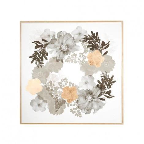Floral Paper Print in Black & Gold | Bonnie & Neil – Salt Living or online at www.saltliving.com.ay #saltliving #bonnieandneil #screenprinting #linen #handmade #print #art