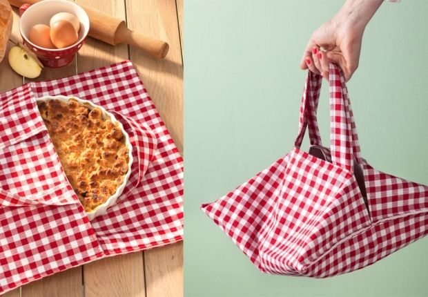 Un sac à tarte Une idée originale pour un(e) cuisinier(e) : le sac à tarte ! Je confectionne ce sac à tarte