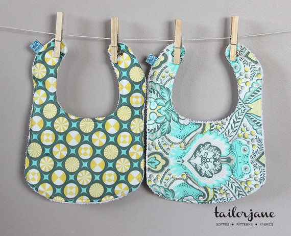 Reversible Prince Charming Bib Set 2 by tailorjane on Etsy, $20.00