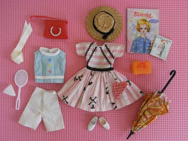 日本の タミーちゃん 洋服 IDEALタグ バドミントン ウェアヴィンテージドール 昭和_画像3