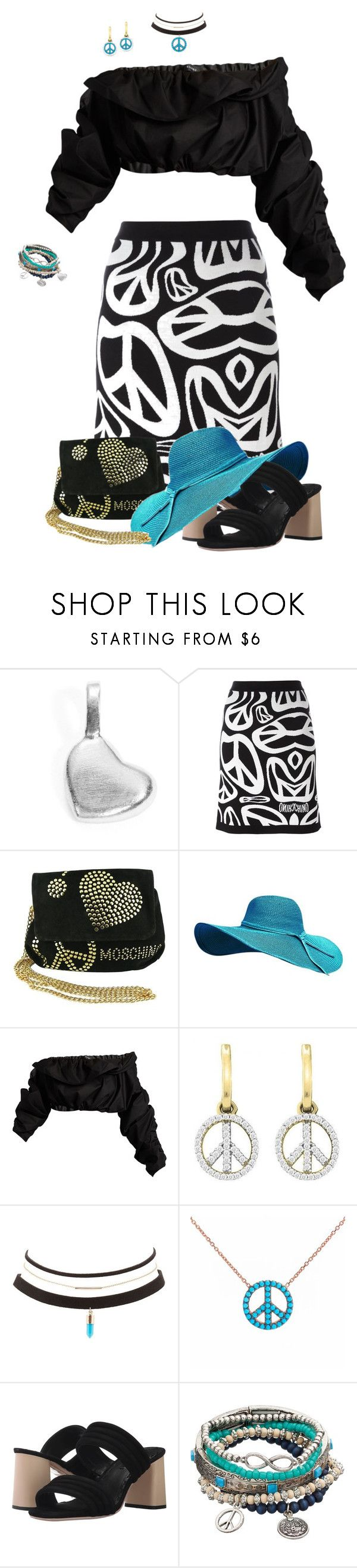 """""""Peace & Love"""" by dkelley-0711 ❤ liked on Polyvore featuring Alex Woo, Moschino, E L L E R Y, Charlotte Russe, Lucky Eyes, Alice + Olivia, Mudd, aliceolivia and polyvoreeditorial"""