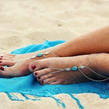 В летнем Стиле, Серебряные Лодыжке Браслет Для Женщин Цепь Ноги Ювелирные Изделия шарм Босиком Сандалии Ноги Браслет Браслеты Для Женщин 2016(China (Mainland))