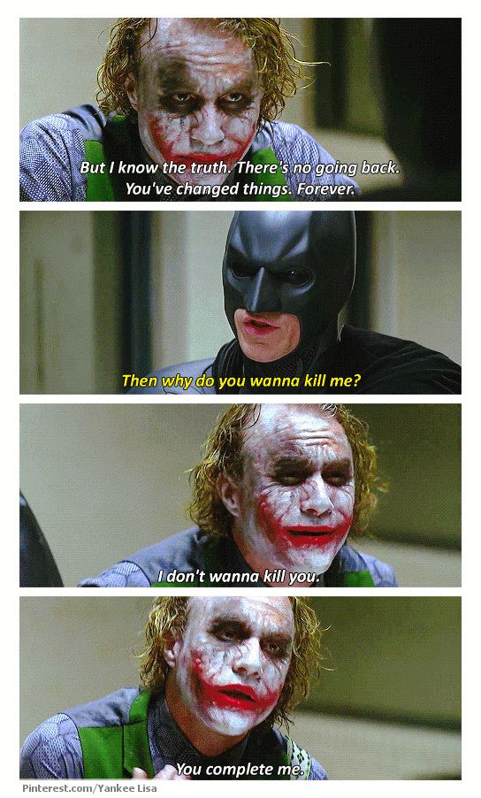 This Joker was perfect. No one can tell me any different and Ed up changing my mind. Heath Ledger was perfection in this role.