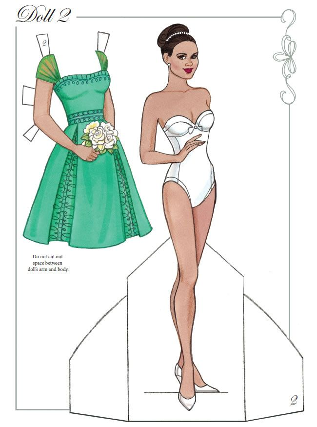 Dream Wedding Paper Dolls With Glitter By Eileen Rudisill Miller (2 Of 7),