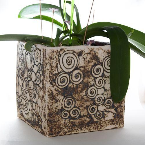 Keramik Orchideen Pflanzgefäß von isi-way.com