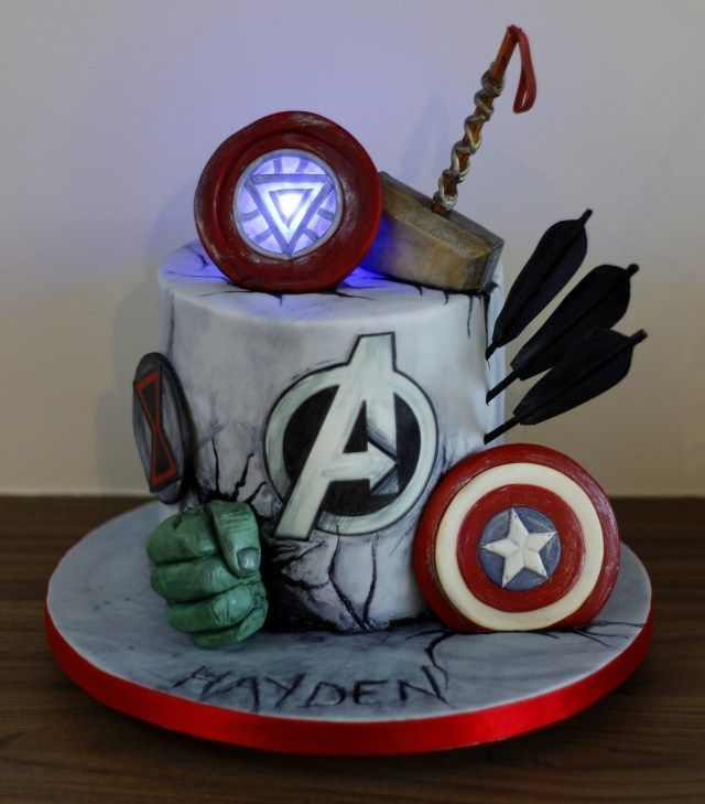 Swell 30 Pretty Image Of Thor Birthday Cake Avengers Marvel Personalised Birthday Cards Paralily Jamesorg