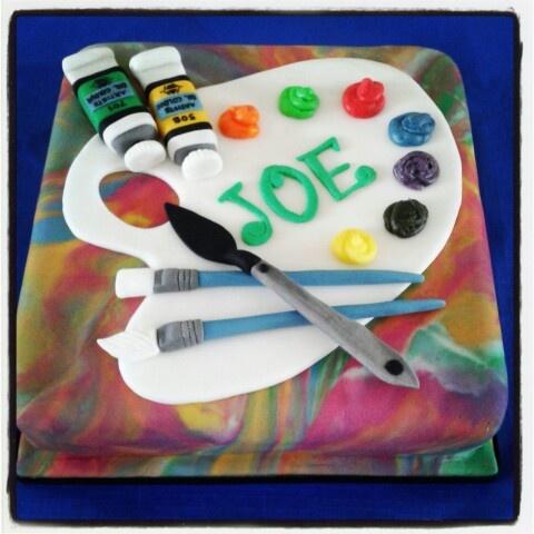 Artist Palette Cake Ideas : Artist palette cake by Fia Sweet Ideas Art and Craft ...