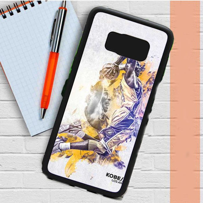 Kobe Bryant Abstract Blue Yellow Samsung Galaxy S8 Plus Case Dewantary