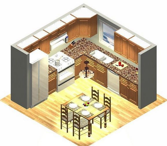 93+ Small Kitchen Layout U-shape Floor Plans Help