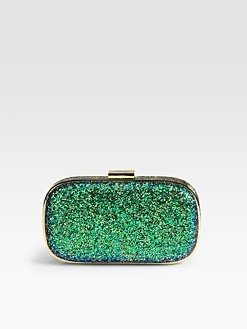 Anya Hindmarch - Marano Glitter Clutch: Green Glitter, Glitter Clutches, Sak Fifth Avenu, Color, Bags Pur Clutches, Anya Hindmarch, Wonder Pics, Hindmarch Marano, Marano Glitter
