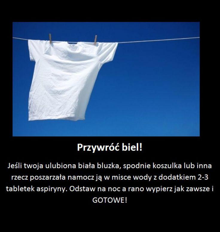 Przywróć intensywną biel swoim ubraniom!
