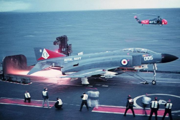 """Loved the F4 since being simultaneously excited by and frightened of them as a kid. The Royal Navy version was the best of all of them. The Rolls Royce Speys were so powerful that they would buckle and blister the deck plates of the American carriers that were used to conduct early sea trials. """"Ark"""" had extremely beefy water cooled blast deflectors that could handle the huge heat from both engines on full burner. If I could have any job in history it would probably have been to fly these…"""