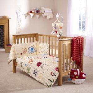 ABC Cot & Cot Bed Quilt & Bumper Set - adorable for boys or girls & a great way to decorate the nursery if you don't know what you're having!
